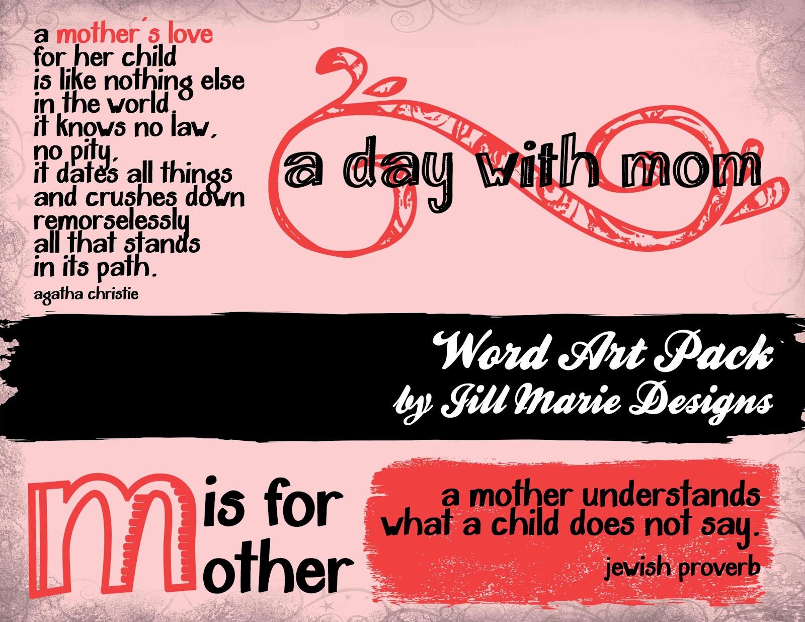 A Matter of Memories: :WORD ART: A Mother's Day Word Art