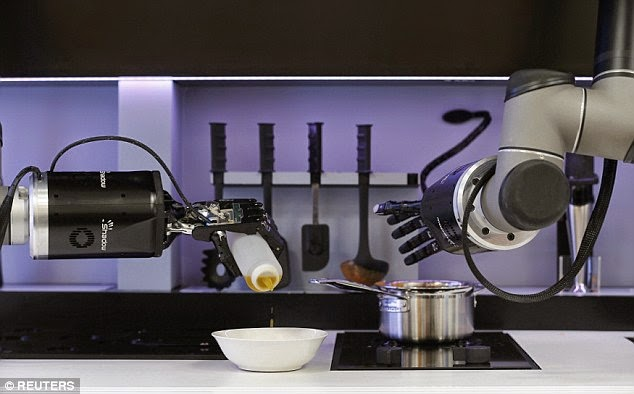 روبوتات قادرة على الطبخ