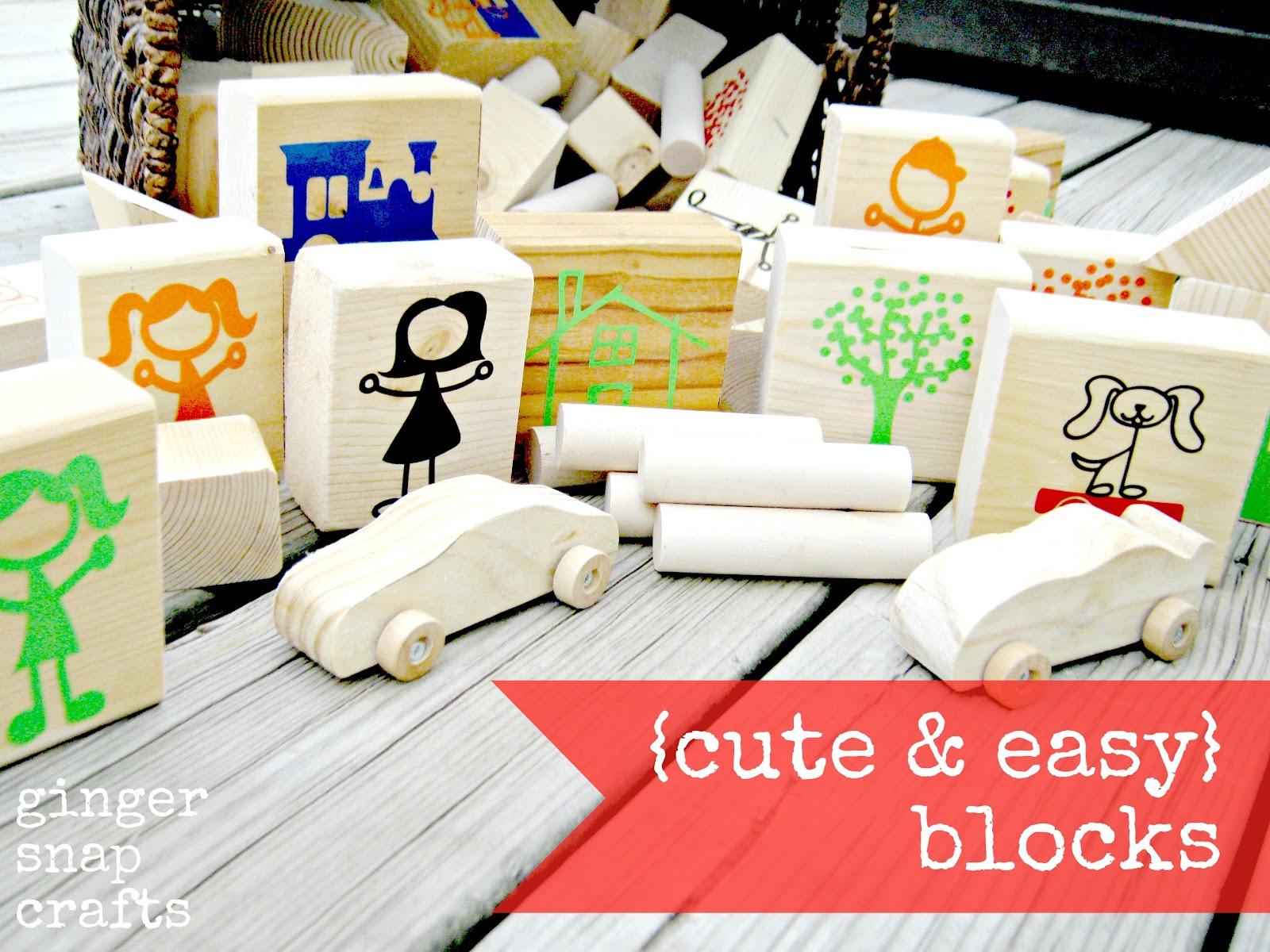 Ginger Snap Crafts DIY Blocks