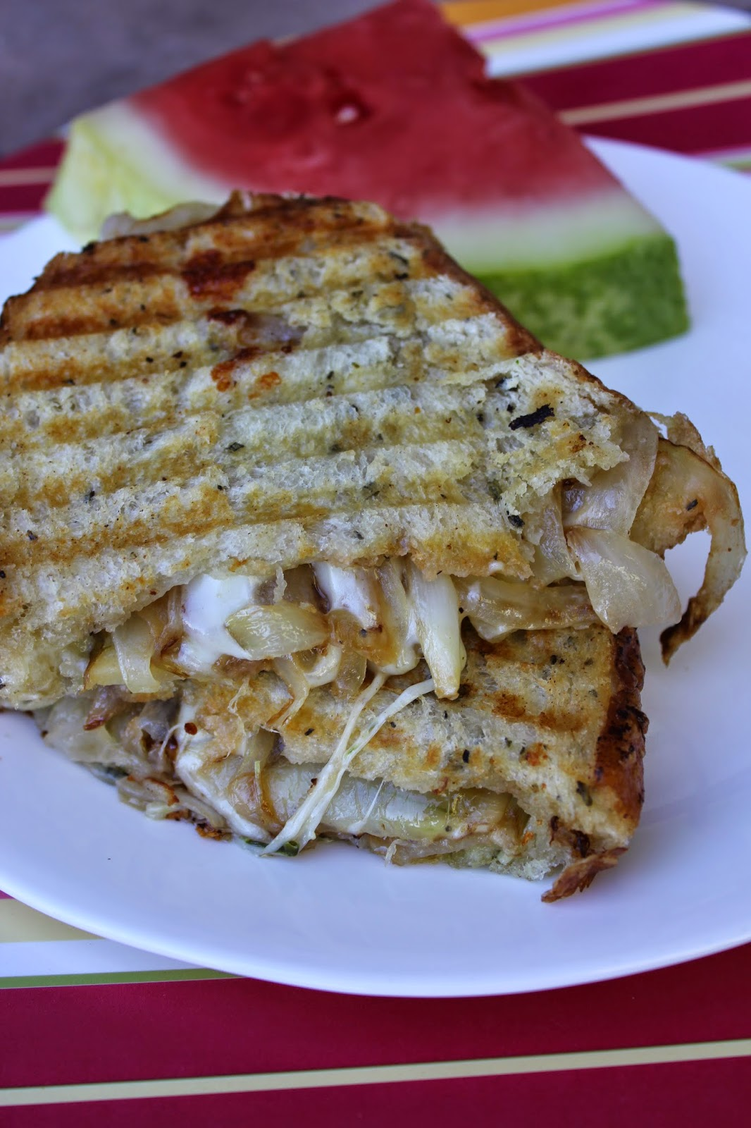 Recipe:  Sandwiches, Recipe:  Vegetarian, Easy Meal Ideas, Dinners under $5, Deals to Meals, Caramelized Onion Grilled Cheese Sandwich