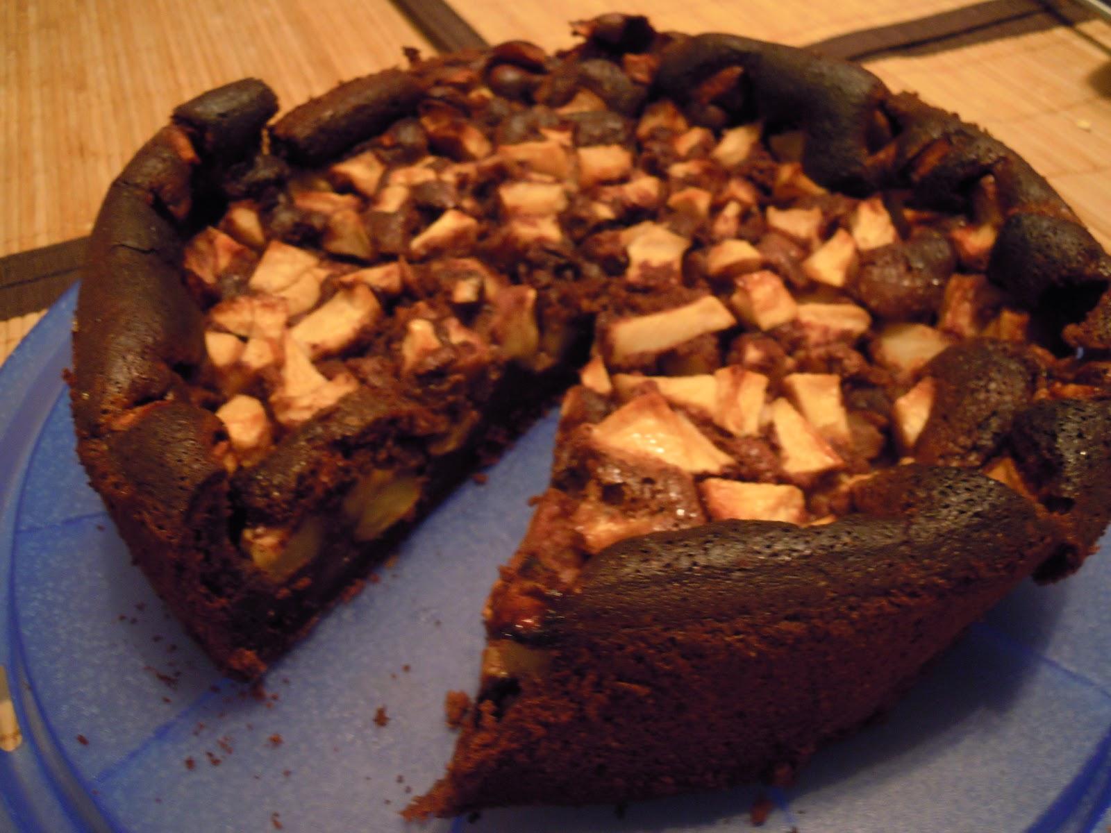 Jennys Kuchenzeile Schoko Apfel Kuchen
