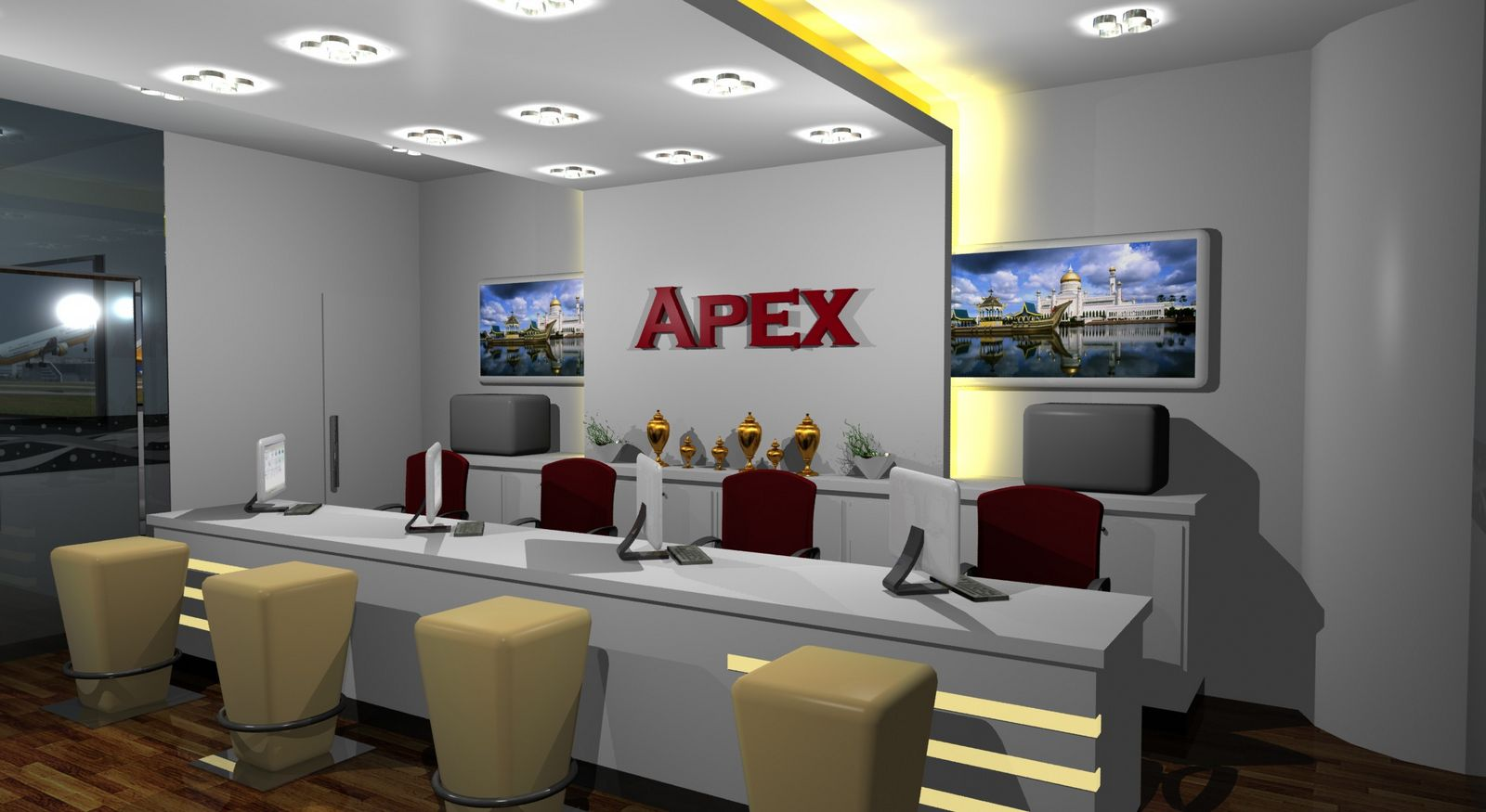 Travel agency office design ideas for Interior design travel agency office