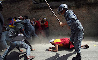 Chinese repression against Buddhist monks