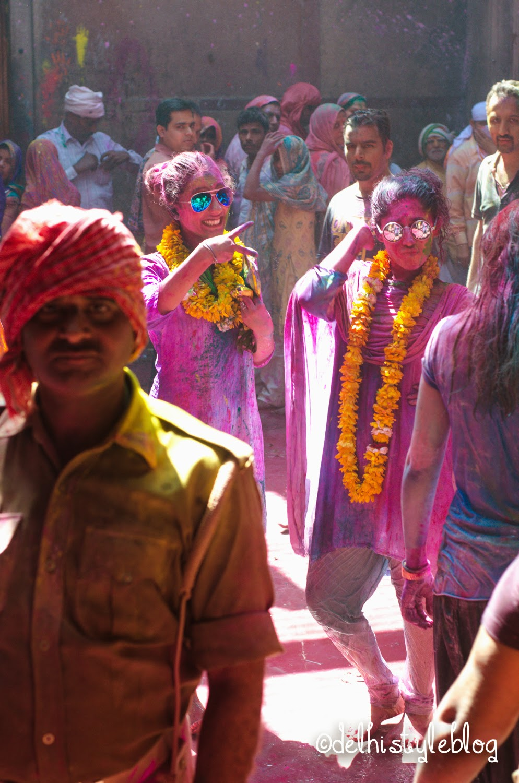 Holi at Banke Bihari Temple 4