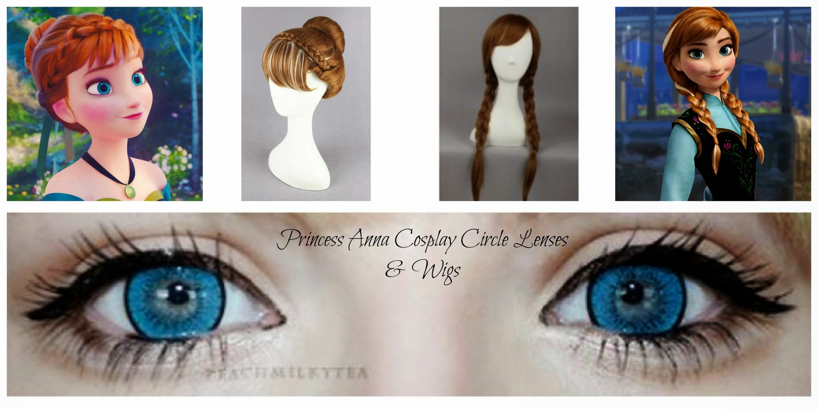 Princess Anna from Frozen Cosplay Contact Lenses & Wigs