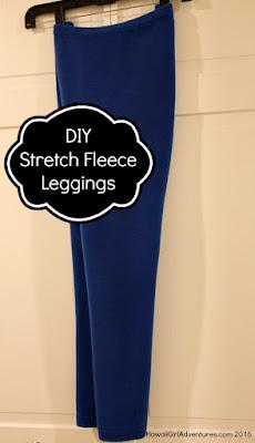 DIY, sewing, Polartec, Power Stretch, Fleece, Leggings