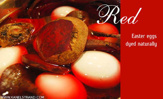 Dye your Easter eggs red with beets