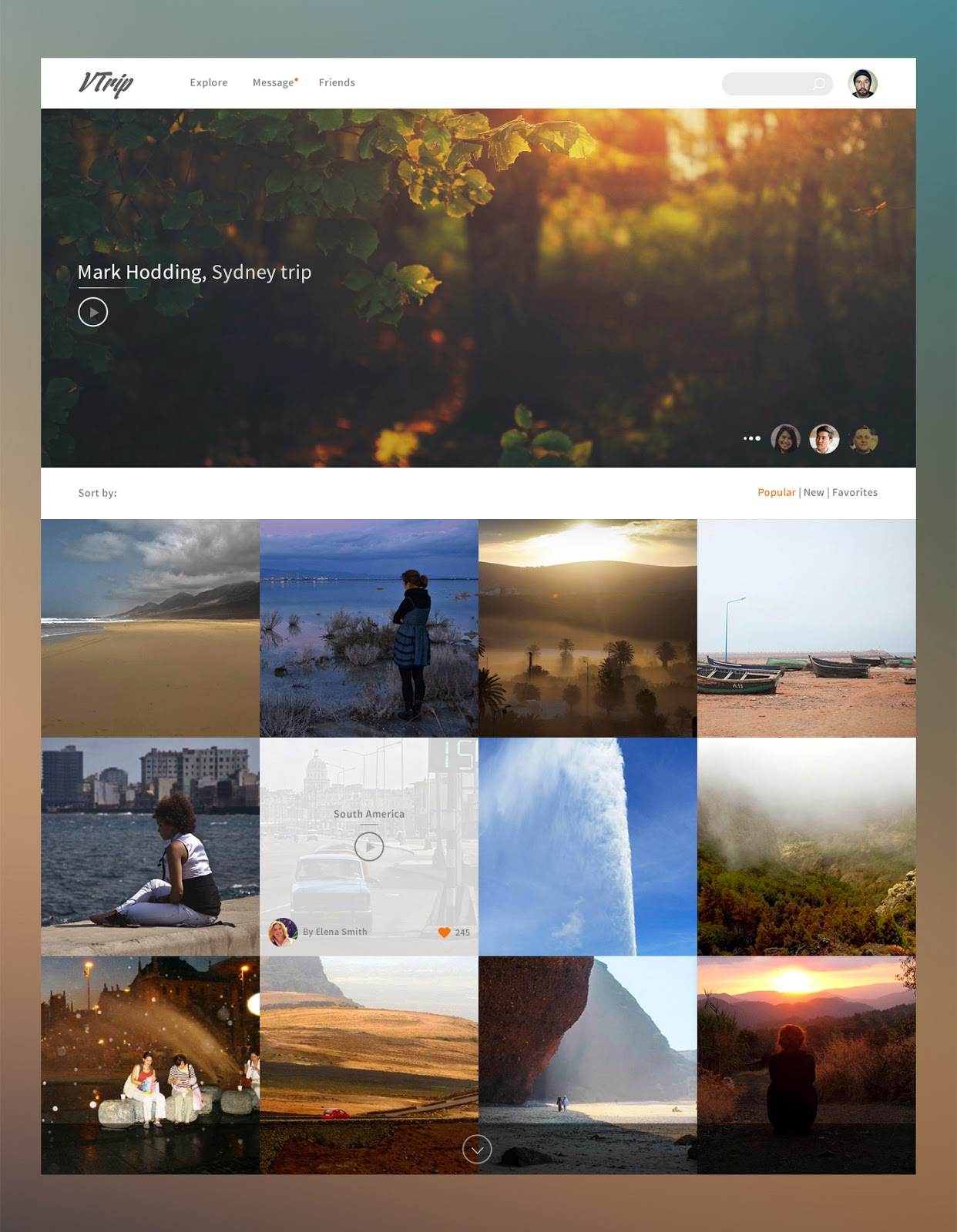 PSD Travel Video Book Template