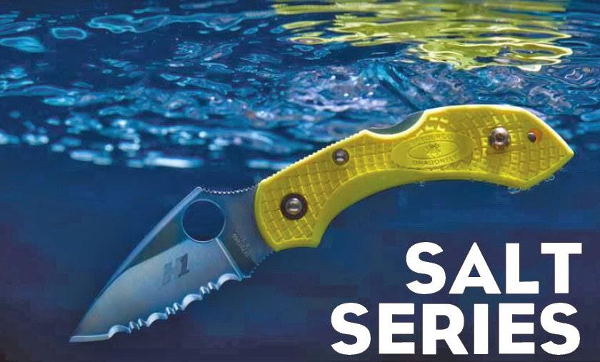 couteaux de marins - couteaux de pêche en mer- série Salt de Spyderco