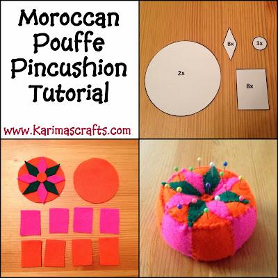 moroccan pouffe pincushion tutorial muslim blog