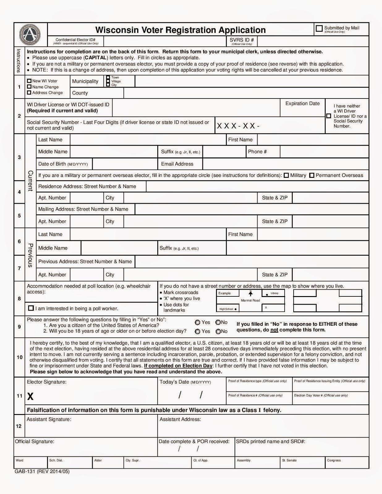 wisconsin voter registration