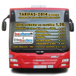 Las Tarifas para 2014