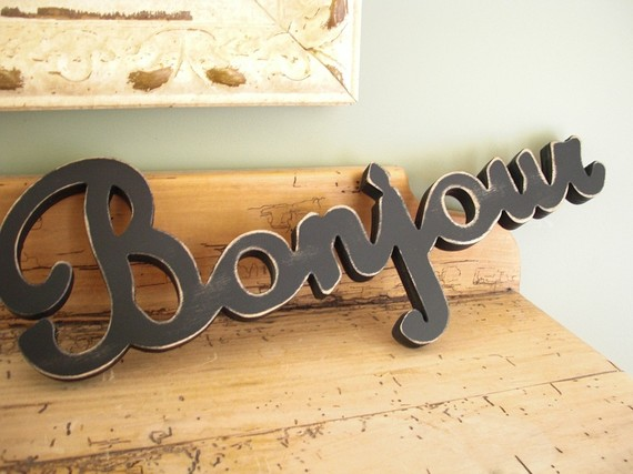 Pretty Things Decor Bonjour Sign