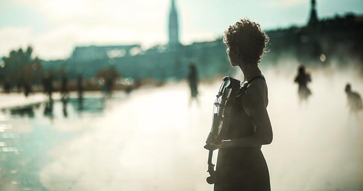 photographie artistique au miroir d'eau de Bordeaux