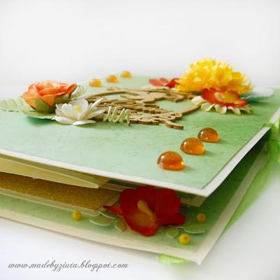 kartki okolicznościowe kartka harmonijkowa ślubna kartka wesele ręcznie robione