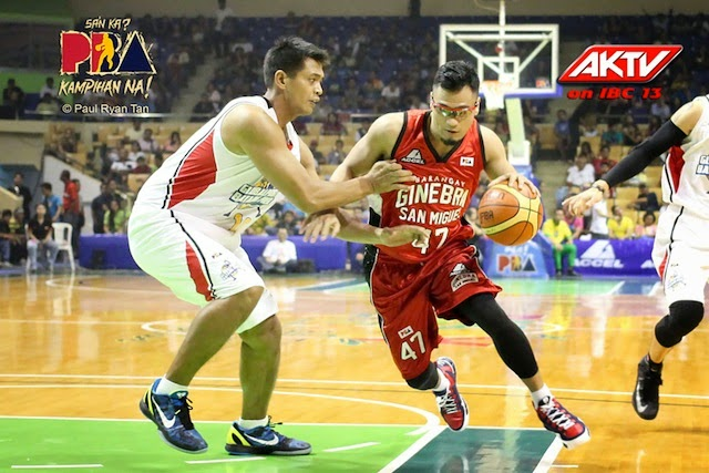 Caguioa driving to the basket