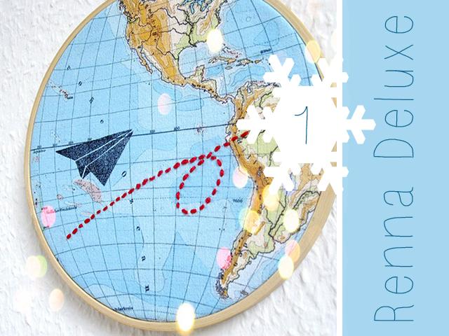Adventsverlosung mit Renna Deluxe - Rahmenbild mit Flieger auf Weltreise // Bildrechte bei Renna Deluxe