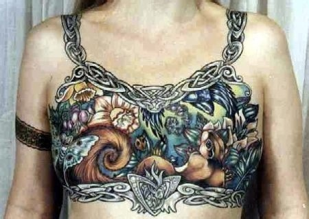 saw this stunning celtic bust tattoo done on a