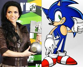 #Inna, cantante rumana, y #Sonic, personaje de videojuegos. ¡Sí se parecen! | Ximinia
