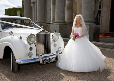 Old Rolls Royce, Young Beautiful Bride