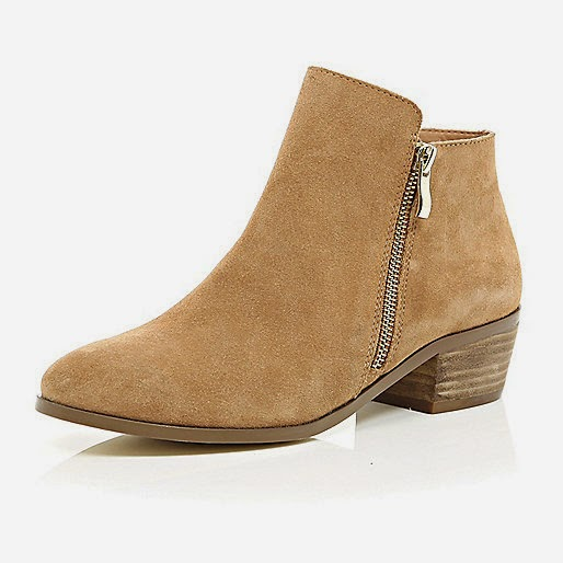 river island beige ankle boots, beige suede ankle boots river island,