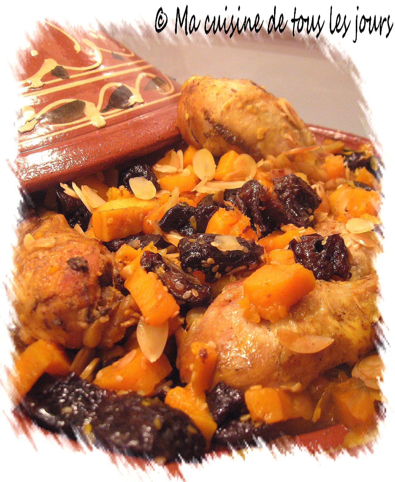 Tajine de poulet patates douces pruneaux et amandes - Quand recolter les patates douces ...