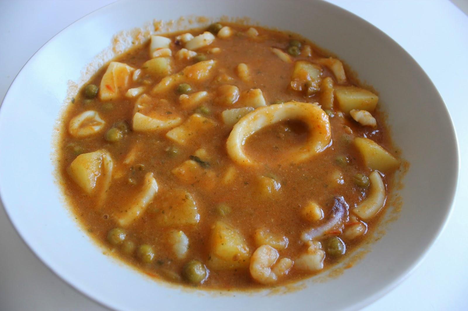 El ba l de monique caldereta de sepia y calamar - Caldereta de langostinos ...