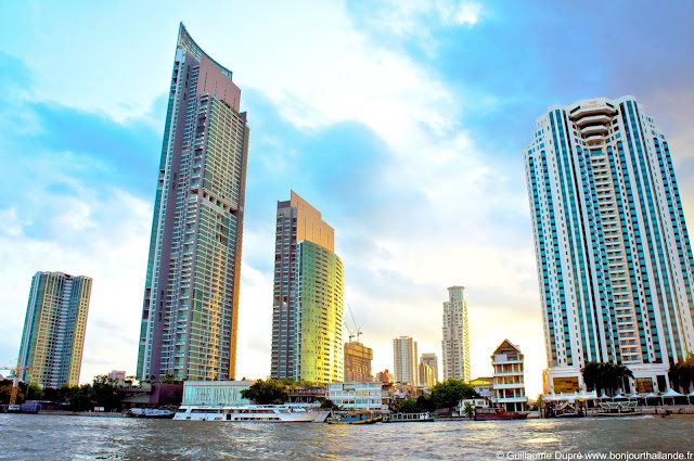Buildings on the Chao Phraya river