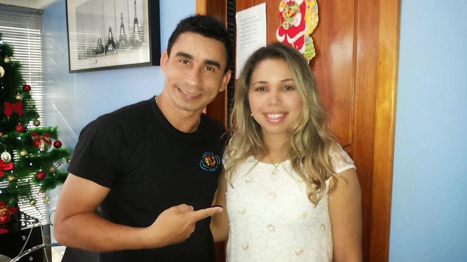 Com a cantora gospel Mylla Carvalho
