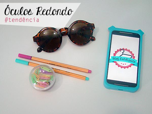 Óculos Redondo Tendência Moda Sunglasses Fashion