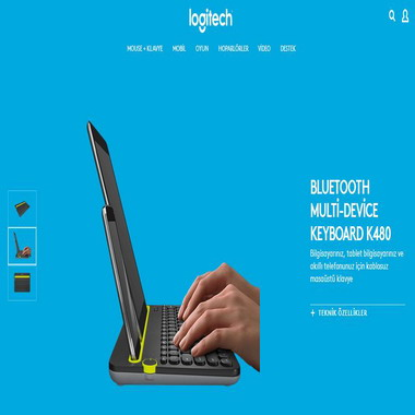 logitech - bluetooth multi-device keyboard k480