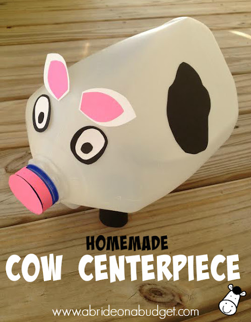 homemade cow centerpiece