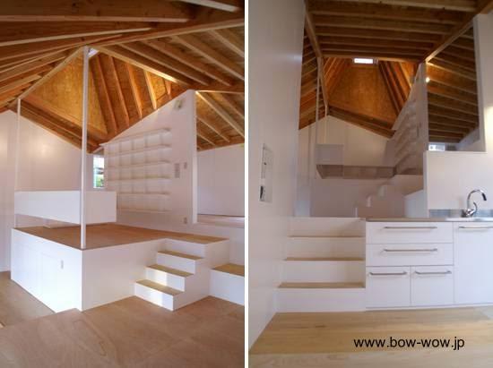 Interior de una moderna casa inspirada en la tradicional del Japón