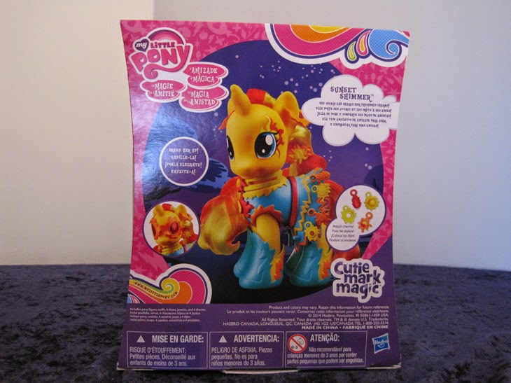 Cutie Mark Magic Fashion Style Sunset Shimmer, back of box.