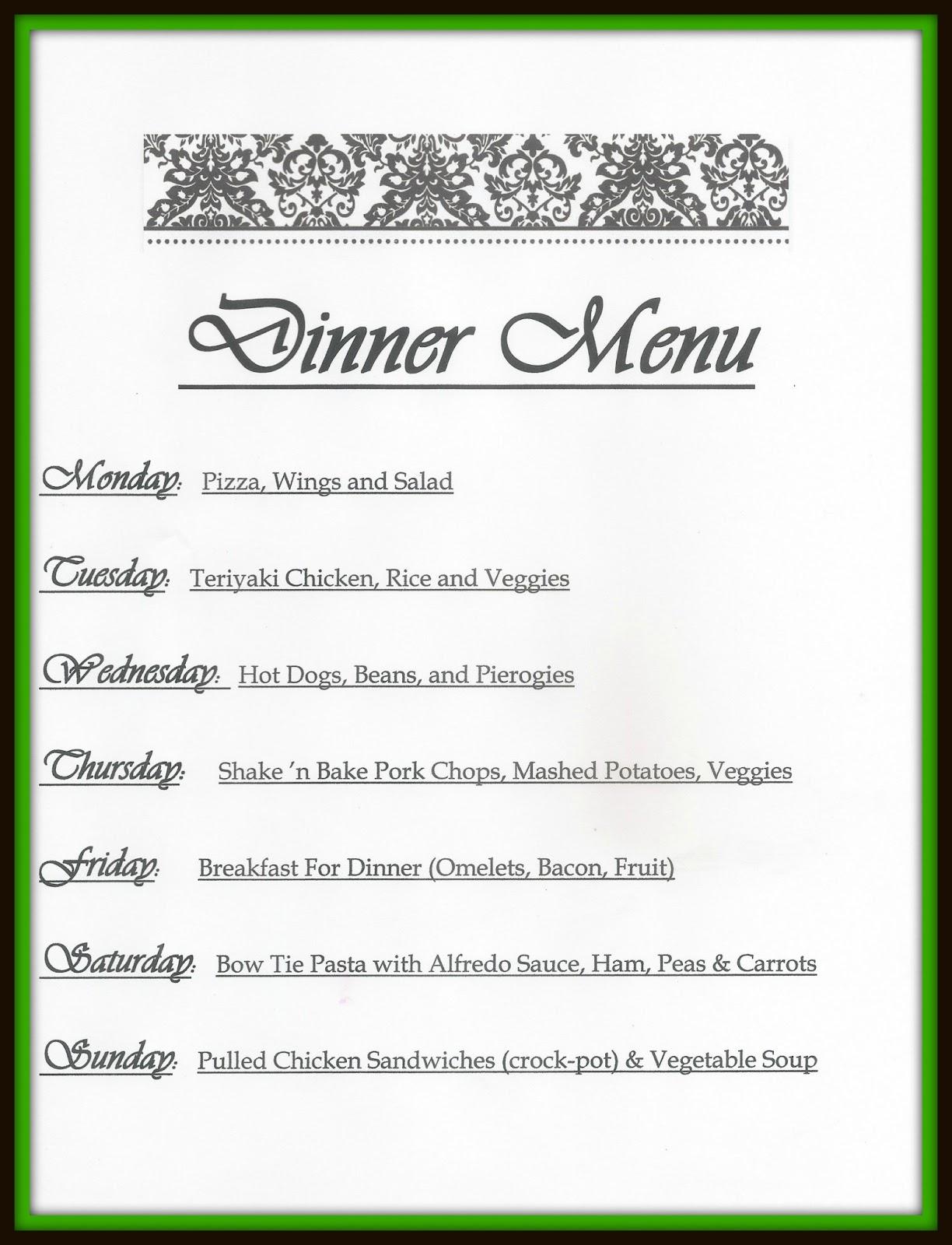 Dinner Menu Template Do you menu plan?