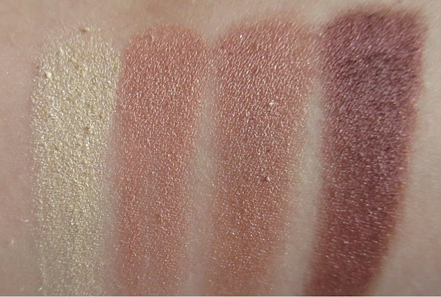 Nicka K Sierra Eyeshadow Quad Swatches