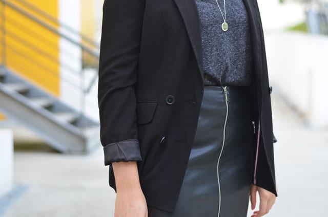 jupe cuir zip femme