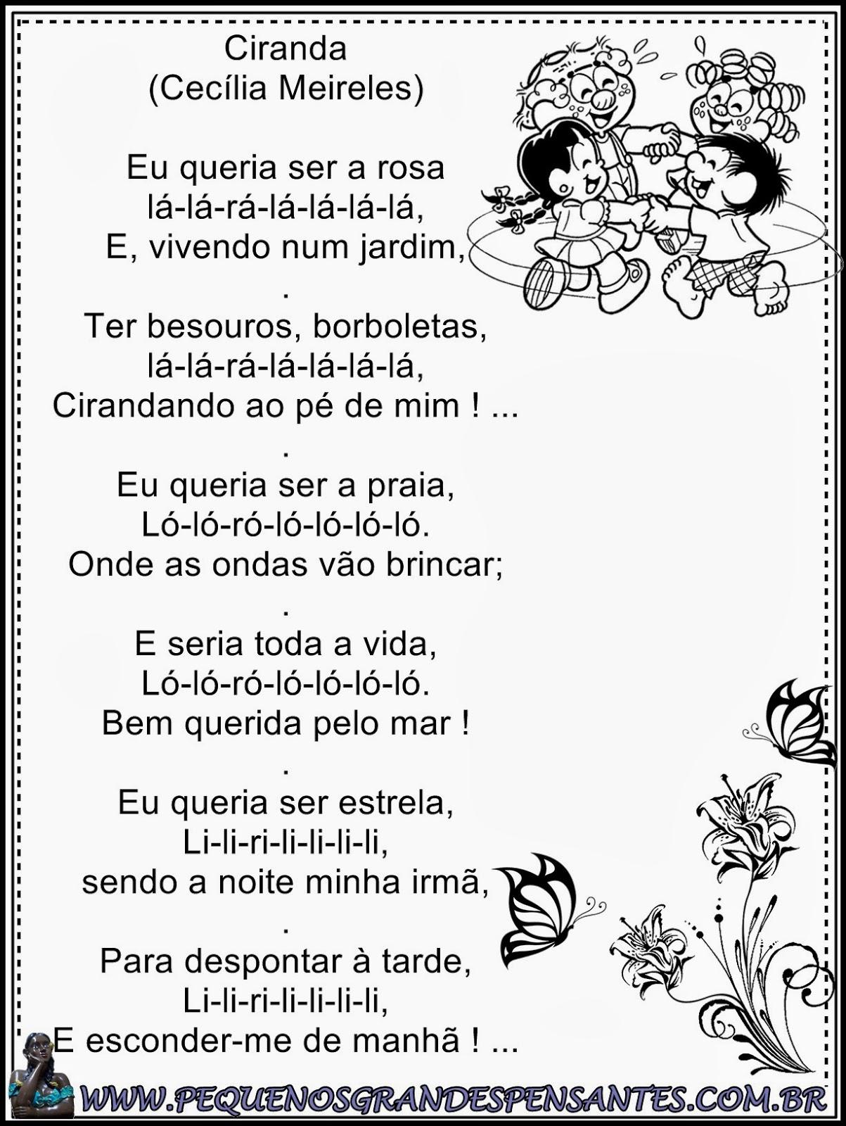 Dia da Poesia - Educação Infantil