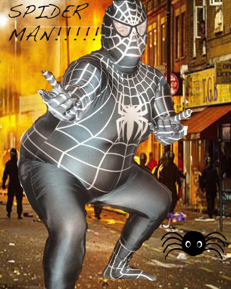 Kristas Art: Fat spiderman superhero