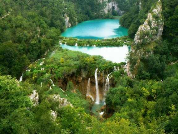 Paisaje cascadas hermosas