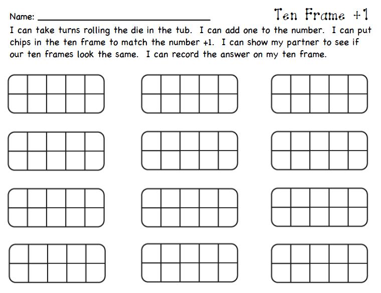 Free Worksheets Ten Frame Worksheet Free Math Worksheets for – 10 Frame Worksheets