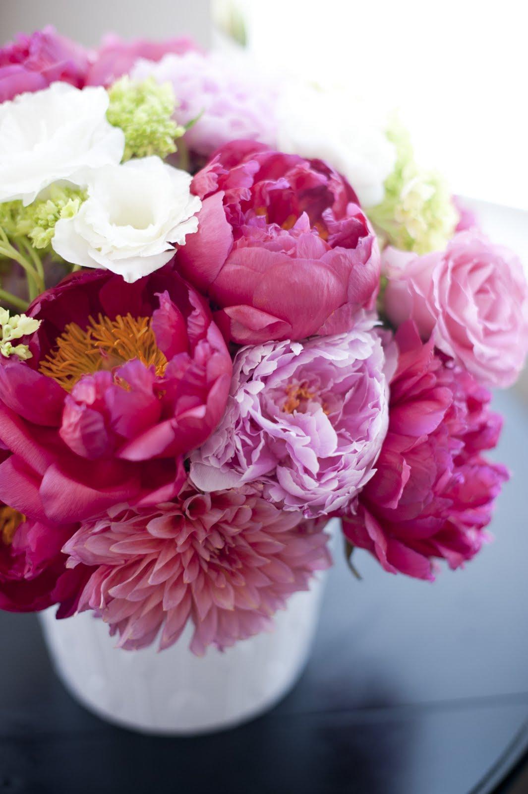 The daily petal peony centerpiece