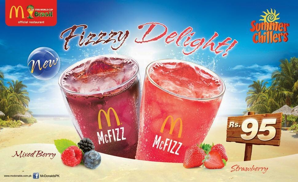 McDonalds | New McFIZZ in Mixed Berry & Strawberry Flavours in Pakistan