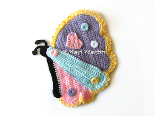 Crochet Pot Holder Butterfly