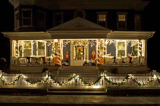 Beautiful house outdoor decoration of Christmas lights ideas hd(hq) wallpaper