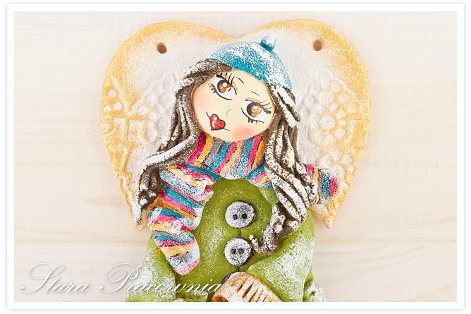 Aniołek w szaliku, aniołek zimowy