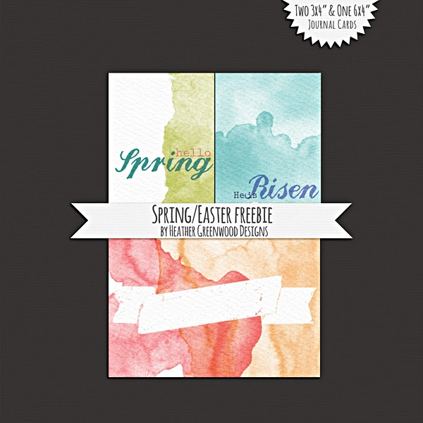 Heather Greenwood | Easter/Spring Journal Cards | Freebie | Printables