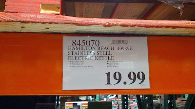 It's a great deal to get the Hamilton Beach Stainless Steel Electric Kettle from Costco