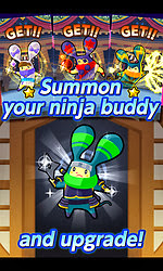 Screenshots of the LINE Ninja Strikers for Android tablet, phone.