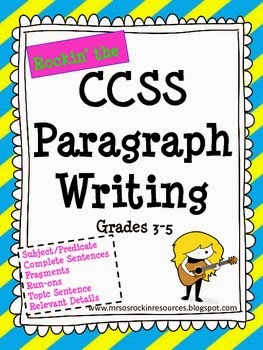http://www.teacherspayteachers.com/Product/Paragraph-Writing-Aligned-to-Common-Core-795838